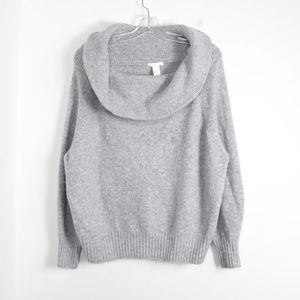 Oversized loose fit soft cozy cowl neck sweater